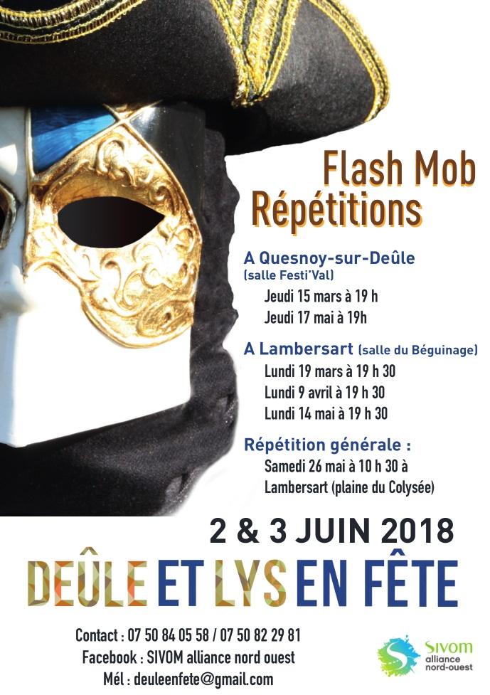 affiche flash mob DeLeF