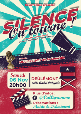 silence on tourne - Affiche - A3 - Deûlémont